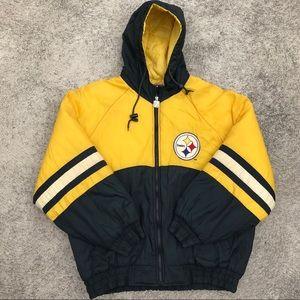 Vintage Logo 7 Pittsburgh Steelers puffy coat